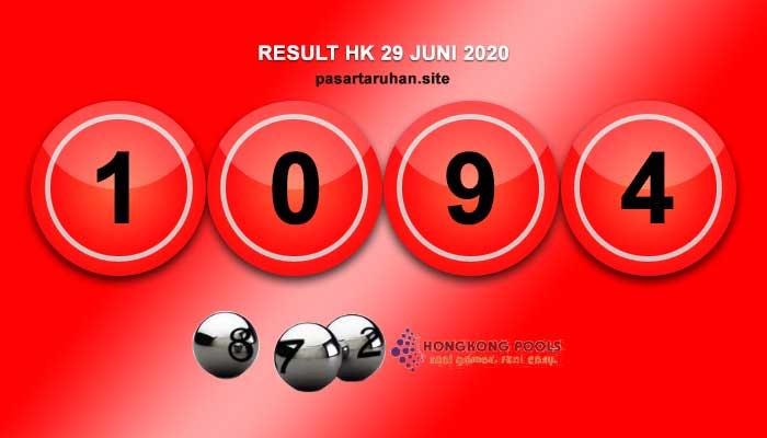 RESULT HONGKONG 29 JUNI 2020