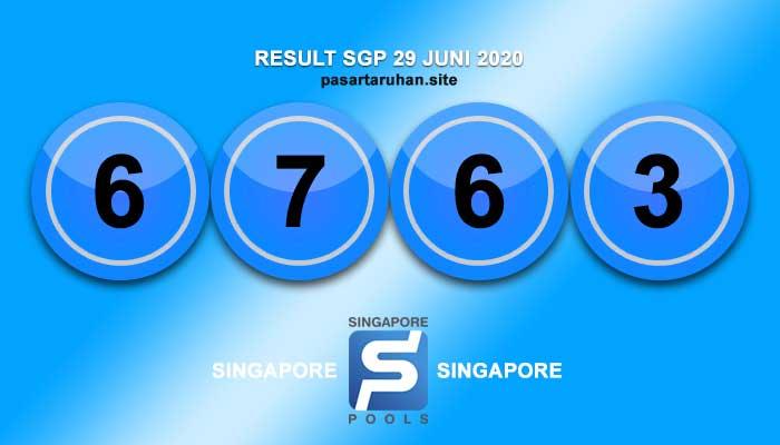 RESULT SINGAPORE 29 JUNI 2020