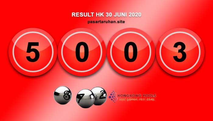 RESULT HONGKONG 30 JUNI 2020