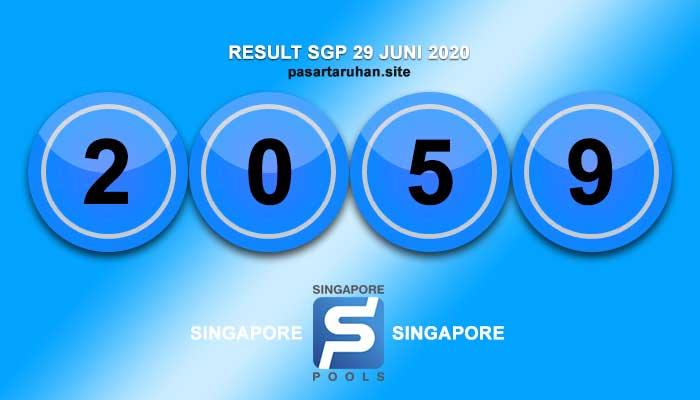 RESULT SINGAPORE 1 JULI 2020