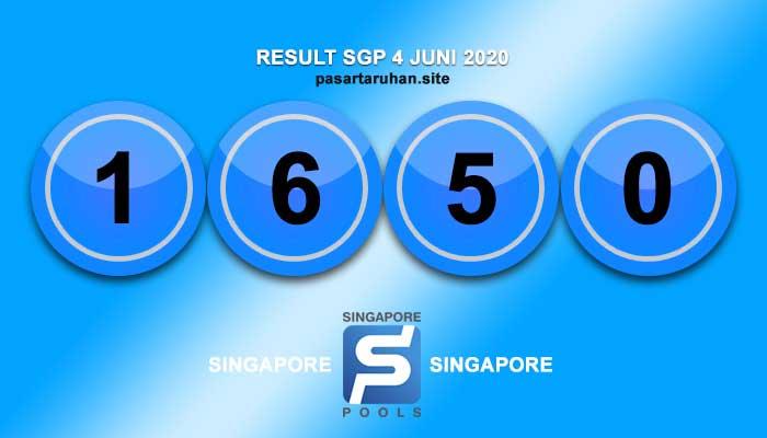 RESULT SINGAPORE 4 JULI 2020