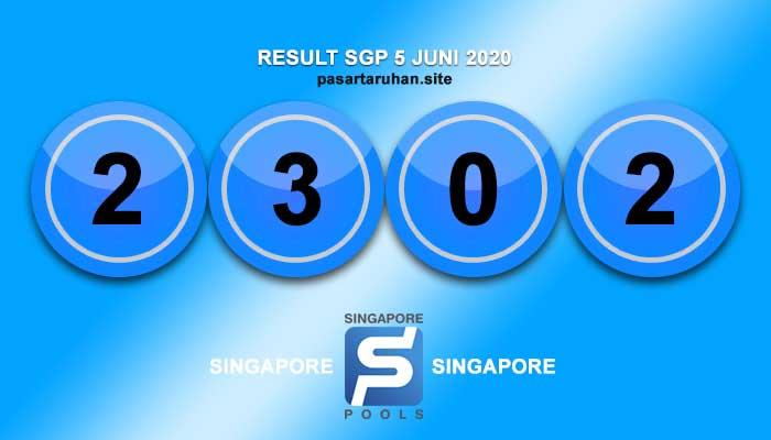 RESULT SINGAPORE 5 JULI 2020